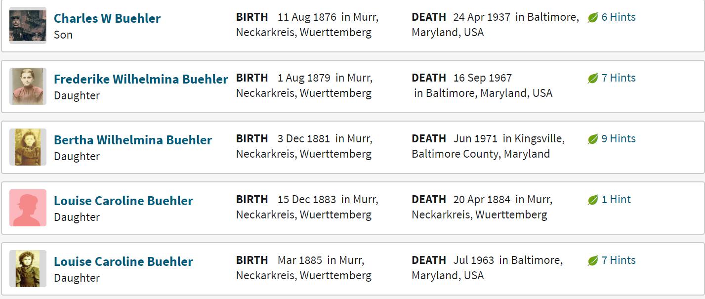 Buehler-Ziegler Family Group Sheet 2