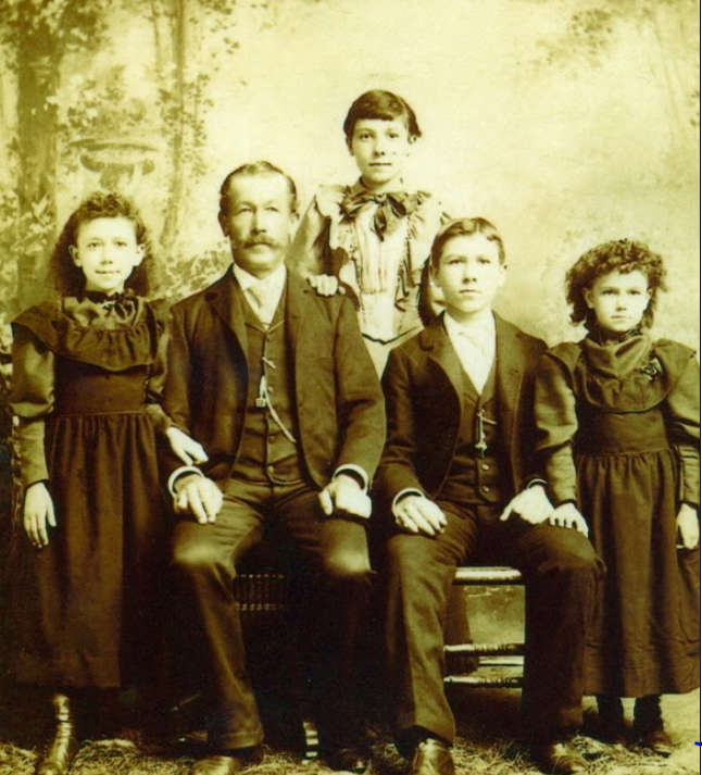 Charles F. Buehler and children